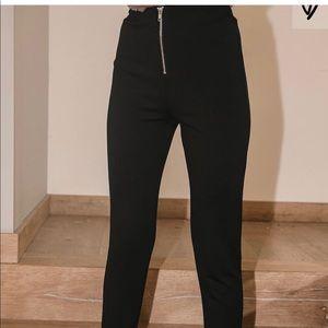 Lulus high waisted zipper leggings